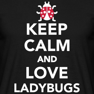 Keep calm and love ladybugs T-Shirts - Männer T-Shirt