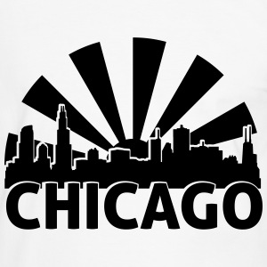 Chicago skyline sun vector T-Shirts - Männer Kontrast-T-Shirt