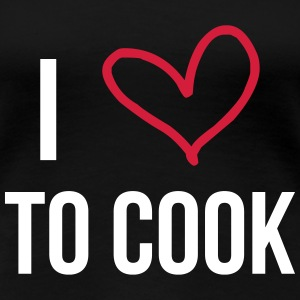 I Love to Cook T-shirts - Dame premium T-shirt