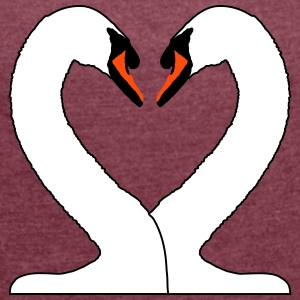 heart of swans_fe14 T-Shirts - Women's T-shirt with rolled up sleeves