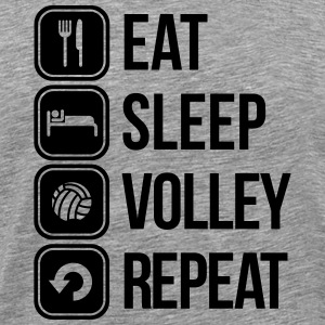 eat sleep volley repeat T-Shirts - Männer Premium T-Shirt