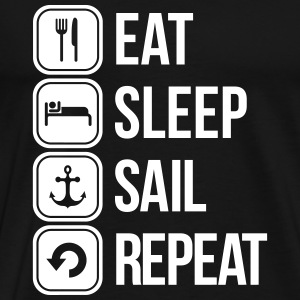 eat sleep sail repeat T-Shirts - Männer Premium T-Shirt
