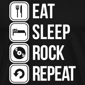 eat sleep rock repeat T-Shirts - Men's Premium T-Shirt