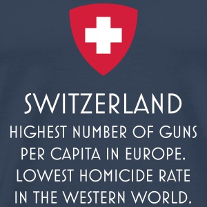 Guns control Swiss T-shirt - Men's Premium T-Shirt