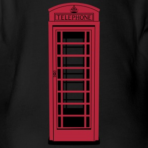 Old London Telephone Box - Baby Body  - Baby Bio-Kurzarm-Body