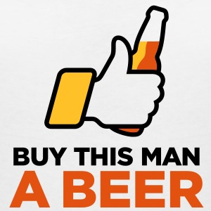 Give this man beer. Tomorrow is his wedding. T-Shirts - Women's V-Neck T-Shirt