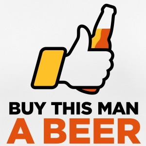 Give this man beer. Tomorrow is his wedding. T-Shirts - Women's Breathable T-Shirt