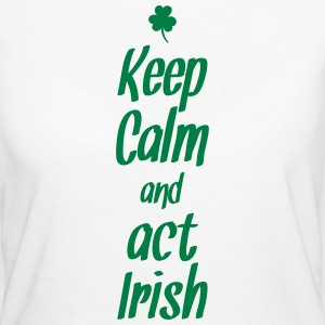 keep calm and act irish T-Shirts - Frauen Bio-T-Shirt