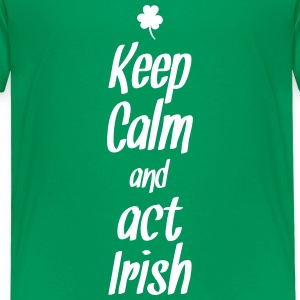 keep calm and act irish T-shirts - Premium-T-shirt barn
