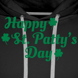 happy st patty's day Bluzy - Bluza męska Premium z kapturem
