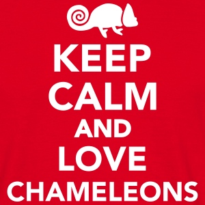 Keep calm and love chameleons T-Shirts - Männer T-Shirt