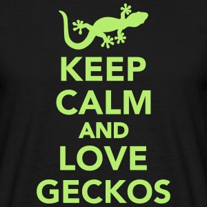 Keep calm and love geckos T-Shirts - Männer T-Shirt