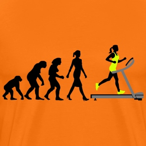 evolution_treadmill_woman_022015_a_3c T-Shirts - Männer Premium T-Shirt