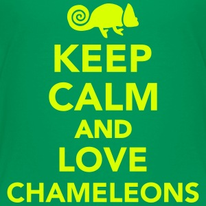 Keep calm and love chameleons T-Shirts - Kinder Premium T-Shirt