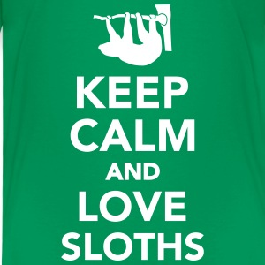 Keep calm and love sloths T-Shirts - Kinder Premium T-Shirt