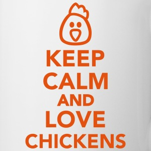Keep calm and love chickens Tassen & Zubehör - Tasse