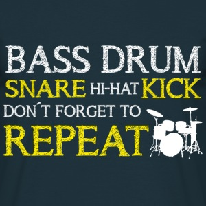 Bass Drum Repeat T-Shirts - Männer T-Shirt
