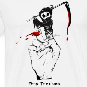 A Grim Reaper as a finger puppet T-Shirts - Men's Premium T-Shirt