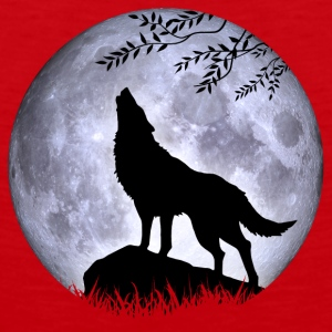 Wolf Vollmond Halloween Nacht Albtraum nightmare - Männer Premium Tank Top