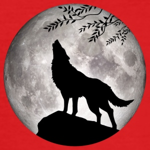 Wolf Vollmond Halloween Nacht Albtraum nightmare - Männer Slim Fit T-Shirt