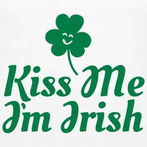 kiss me i'm irish fancy / clover / shamrock Tops - Vrouwen Premium tank top