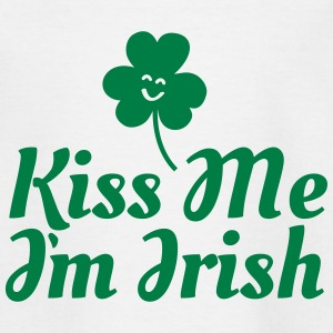 kiss me i'm irish fancy / clover / shamrock T-shirts - T-shirt barn