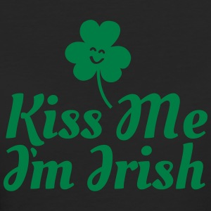kiss me i'm irish fancy / clover / shamrock T-Shirts - Frauen Bio-T-Shirt
