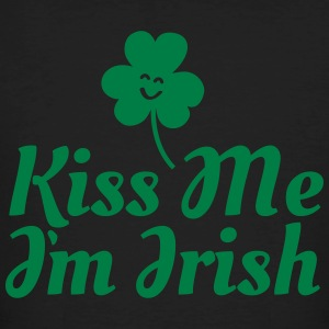 kiss me i'm irish fancy / clover / shamrock T-shirts - Ekologisk T-shirt herr