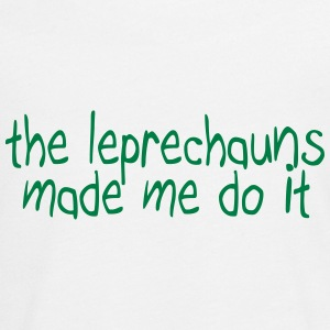 the leprechauns made me do it Langarmede T-skjorter - Premium langermet T-skjorte for tenåringer