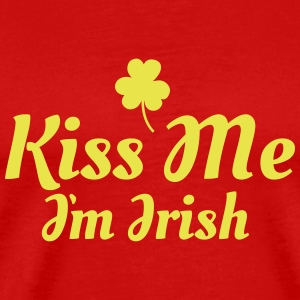 kiss me im Irish excellent T-shirts - Mannen Premium T-shirt