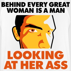 Behind every great woman is a horny voyeur Sports wear - Men's Breathable Tank Top