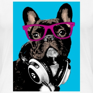 Pop Art Bulldog T-shirts - Dame premium T-shirt