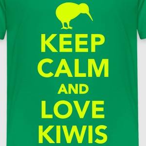 Keep calm and love kiwis T-Shirts - Kinder Premium T-Shirt