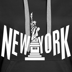 New York Sweat-shirts - Sweat-shirt à capuche Premium pour femmes