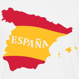 Karte Spanien, Spain, Map, Flag Map Spain Tee shirts - T-shirt Homme