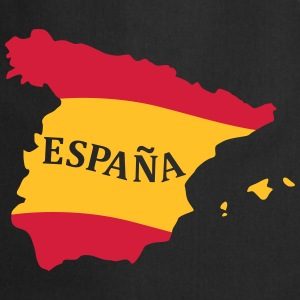 Karte Spanien, Spain, Map, Flag Map Spain Forklæder - Forklæde
