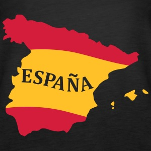 Karte Spanien, Spain, Map, Flag Map Spain Toppe - Dame Premium tanktop