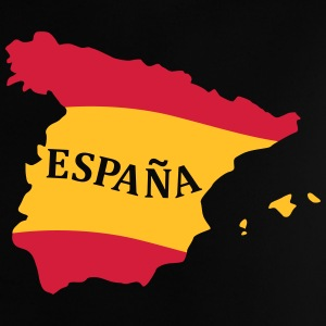Karte Spanien, Spain, Map, Flag Map Spain Camisetas - Camiseta bebé