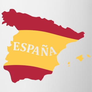Karte Spanien, Spain, Map, Flag Map Spain Kubki i dodatki - Kubek