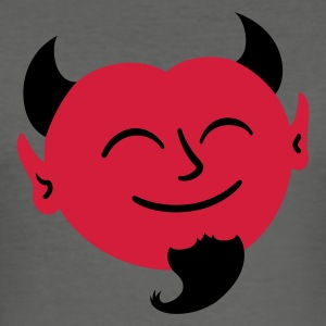 Happy Satan T-Shirts - Männer Slim Fit T-Shirt