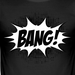 Comic Bang! Boom, Kaboom, Superhero, Quotes T-shirts - Slim Fit T-shirt herr