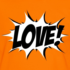 Love, Comic Style, Quotes, Valentines Day,  Tee shirts - T-shirt contraste Homme