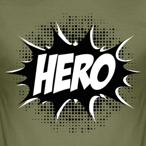 Hero, Comic, Superhero, Super, Winner, Quotes, Fun T-Shirts - Men's Slim Fit T-Shirt