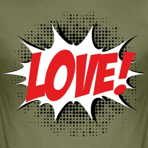 Love, Comic Style, Quotes, Valentines Day,  T-shirts - slim fit T-shirt
