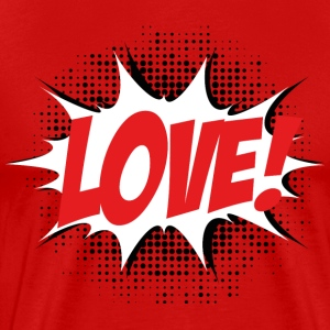 Love, Comic Style, Quotes, Valentines Day,  T-shirts - Herre premium T-shirt