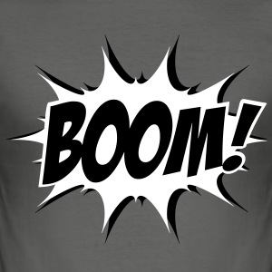 Comic Boom, Bang, Star, Superhero, Quotes, Funny  - Männer Slim Fit T-Shirt