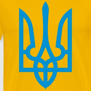 Ukraine Coat of Arms T-Shirts - Men's Premium T-Shirt