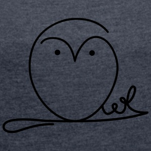 Owl signature T-Shirts - Women's T-shirt with rolled up sleeves