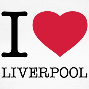 I LOVE LIVERPOOL - Dame-T-shirt
