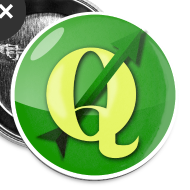 Design ~ Buttons with QGIS logo